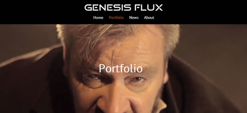 TrainStorm Media Portfolio - Genesis Flux - website design and development
