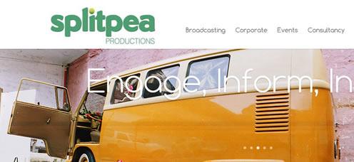 TrainStorm Portfolio - Splitpea Productions - website design and development
